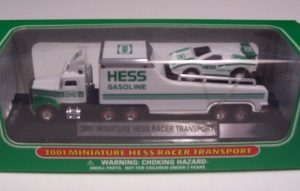 2001 Hess Miniature Racer Transport