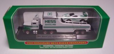HESS 2001 MINATURE HESS RACER TRANSPORT