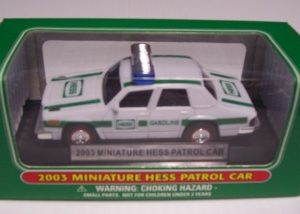 2003 Hess Miniature Patrol Car