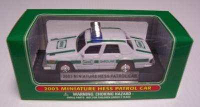 2003 Hess Miniature Patrol Car