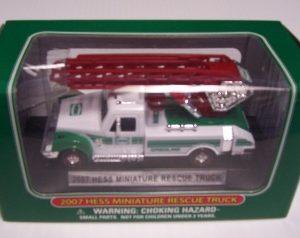 2007 Hess Miniature Rescue Truck