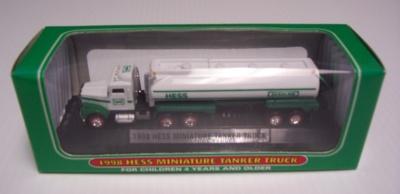 1998 hess miniature tanker truck 1998 Hess Miniature Tanker Truck 98hessmini