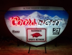 Coors Light Beer Arkansas Neon Sign