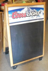 coors light sidewalk chalkboard