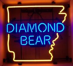 Diamond Bear Beer Neon Sign