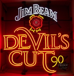 Jim Beam Whiskey Devils Cut Neon Sign beer sign collection My Beer Sign Collection 2 – Not for sale but can be bought… jimbeamdevilscut