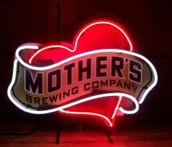 Mothers Brewing Company Neon Sign beer sign collection My Beer Sign Collection 2 – Not for sale but can be bought… mothersbrewingcompany