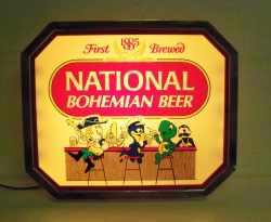 my beer sign collection MY BEER SIGN COLLECTION 2 – Not for sale but can be bought… nationalbohemianbeer1987light