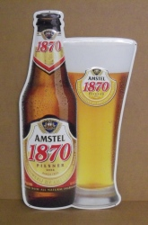 amstel 1870 beer tin sign
