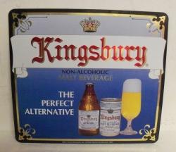 kingsbury beer tin sign