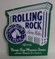 rolling rock tin sign Rolling Rock Tin Sign rollingrockextrapalesteeplechasetindamaged