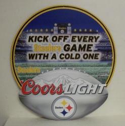 Coors Light Steelers Tin Sign coorslightsteelers2014tin
