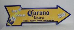 Corona Extra Tin Sign coronaextraarrowtin