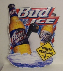 Bud Ice Beer Penguin Tin Sign