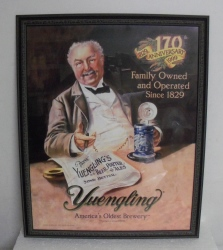 Yuengling Beer 170th Anniversary Sign