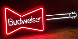 MY BEER SIGN COLLECTION – Not for sale but can be bought… budweiserguitar1989