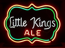 Little Kings Ale Neon Sign beer sign collection My Beer Sign Collection 2 – Not for sale but can be bought… littlekingsalemine