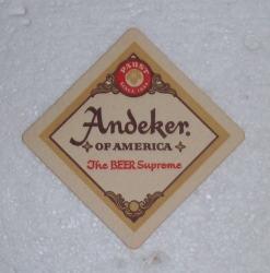 andeker beer coaster