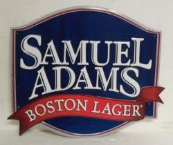 samuel adams boston lager tin sign