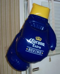 corona extra beer boxing gloves inflatable