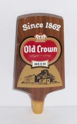old crown beer tap handle