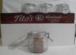 titos handmade vodka jar display