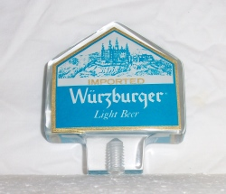 wurzburger light beer tap handle