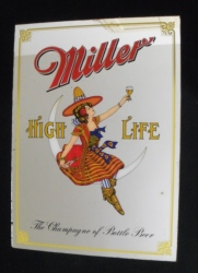 Miller High Life Lady Beer Mirror