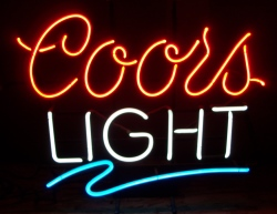 Coors light signs neon beer signs for sale coors light beer neon sign aloadofball Choice Image
