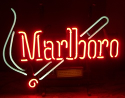 marlboro cigarettes neon sign