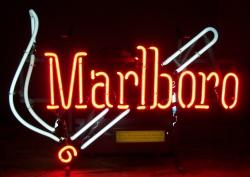 marlboro cigarettes neon sign
