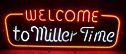 Miller Time Beer Neon Sign