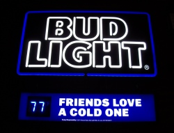 bud light beer cave led sign