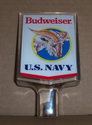 budweiser beer navy tap handle Budweiser Beer Navy Tap Handle budweiserusnavylucitetap