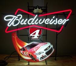 budweiser beer nascar neon sign Budweiser Beer NASCAR Neon Sign budweiser4harvick2015