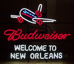budweiser beer new orleans neon sign