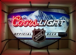coors light beer nhl neon sign