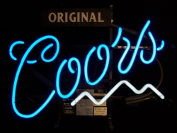 coors original beer neon sign