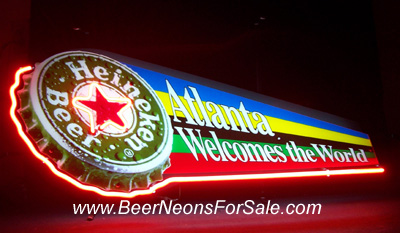 MY BEER SIGN COLLECTION – Not for sale but can be bought… heinekenatlantaolympics
