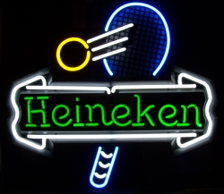 MY BEER SIGN COLLECTION – Not for sale but can be bought… heinekentennis