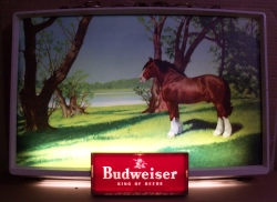 MY BEER SIGN COLLECTION – Not for sale but can be bought… budweiserhorse1950slight