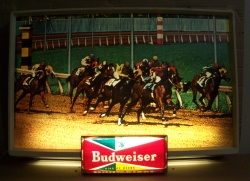 MY BEER SIGN COLLECTION – Not for sale but can be bought… budweiserracehorses1950slight
