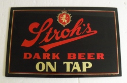 beer sign collection My Beer Sign Collection 2 – Not for sale but can be bought… strohsdarkbeerontapmirrornoframe