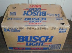 busch light draft beer case