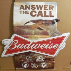 budweiser beer outdoors tin sign