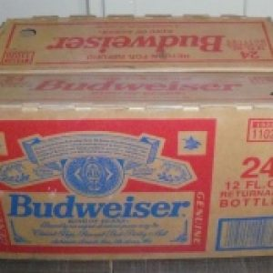 budweiser beer bottle box