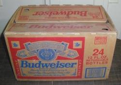 budweiser beer bottle box