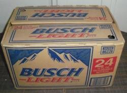 busch light beer case