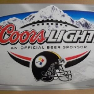 Coors Light Beer NFL Pittsburgh Steelers Tin Sign