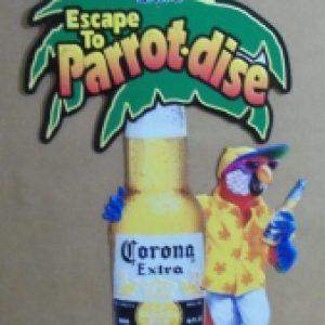 corona extra beer tin sign